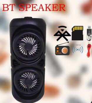 Портативна USB колонка Column 4221 бездротова блютуз з пультом дистанційного керування+ Bluetooth + micro cd + акумулятор + вхід мікрофон - Переносна музична акустична система з блютуз LED підсвічуванням для вулиці і вдома, Чорний