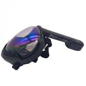 Полнолицевая маска для плавания SMAKO MASK M8018 черная размер L/XL