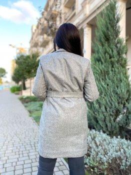 Пальто DNKA р41187 Меланжеве