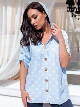 Блуза DNKA с41436 Голубая