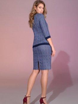Костюм (майка + спідниця + піджак) DNKA с560/4 Синій картатий