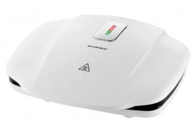 Контактний електрогриль Silver Crest SKG 1000 B2, антипригарне покриття, білий