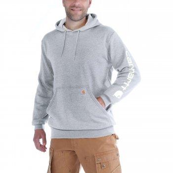 Худі Carhartt Sleeve Logo Hooded Sweatshirt - K288 (Heather Grey, XS)