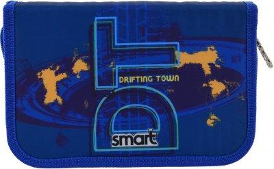 Пенал Smart No Limits твердый одинарный с двумя клапанами 1 отделение Разноцветный (532097)