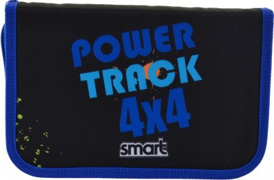 Пенал Smart Power 4x4 твердый одинарный с двумя клапанами 1 отделение Разноцветный (532067)