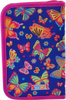 Пенал Smart Butterfly dance твердый одинарный с клапаном 1 отделение Разноцветный (532051)