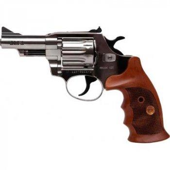 Револьвер под патрон Флобера Alfa 431 (никель, дерево) (144943/9)