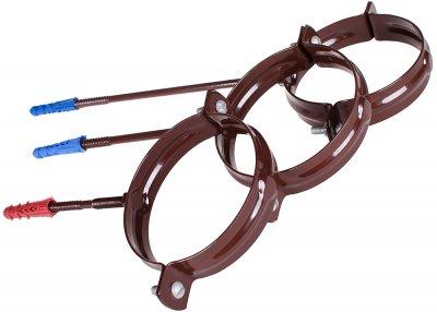 Кронштейн для водостічної труби Profil металевий L100 90 Коричневий (5906775631225)