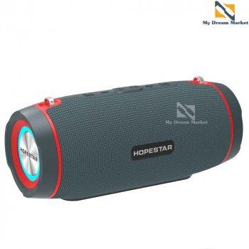 Портативна колонка Hopestar H45 з функцією гучномовця - бездротова з вологозахисним корпусом - Музична акустична блютуз система з функцією TWS + роз'єм під TF-карти + USB + AUX, Blue