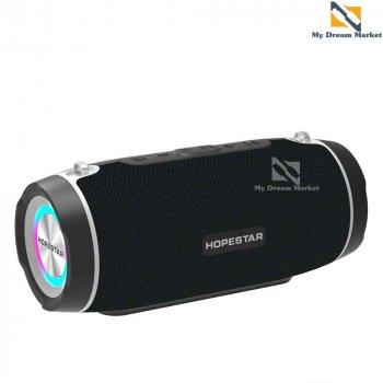 Музична колонка Hopestar H45 бездротова з вологозахисним IPX6 корпусом і високоякісними динаміками - Портативна блютуз акустична система – TWS і роз'єм під TF-карти + USB + AUX, Black