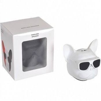 Портативна Колонка METR+ Голова собаки 597-5 (Білий)