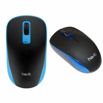Мишка оптична безпровідна Havit MS626GT Чорний/Синій