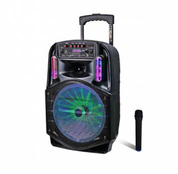 Портативна Бездротова Bluetooth колонка+світломузика,мікрофон,пульт Model CH86 (Yunfeng)