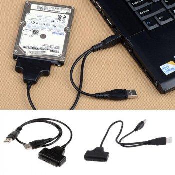 """Адаптер USB 2.0 на SATA 2.5"""" для HDD и SSD дисков (7Pin + 15Pin)"""
