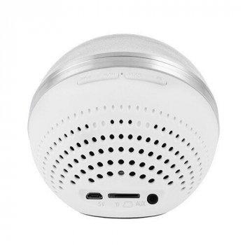 Бездротова Bluetooth колонка блютуз M8 перламутровий, speakerphone, куля портативна акустика