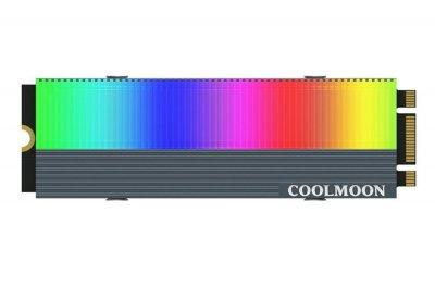 Радиатор охлаждения COOLMOON CM-M73S для SSD M.2 c одсветкой ARGB