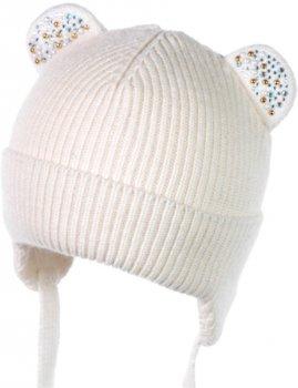 Зимняя шапка с завязками Jamiks MANOLA 42 см Экрю (5903024133516)