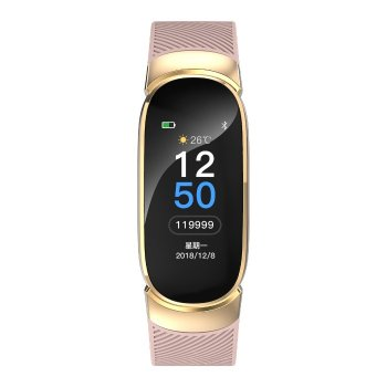 Смарт-годинник Smart Victory Pink з лічильником калорій і крокоміром + Bluetooth 4.0 + частота серцебиття і 7 режимів спорт