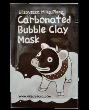 Пробник Маска Для Лица Глиняно-Пузырьковая Elizavecca Milky Piggy Carbonated Bubble Clay Mask, 3 мл