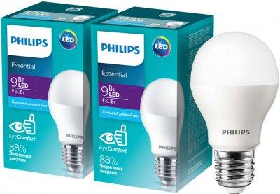 Светодиодная лампа Philips ESS LED Bulb 9W E27 6500K 2 шт (929002299487F)