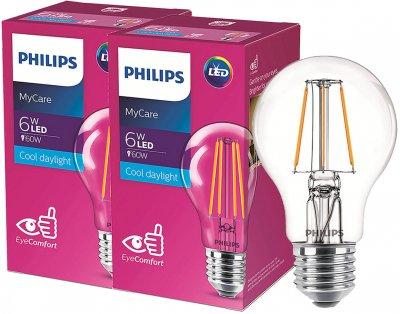 Светодиодная лампа Philips Filament LED Classic 6-60W A60 E27 865 CL NDAPR 2 шт (929001974608F)