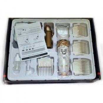 Машинка для стрижки волосся Gemei GM-6001 з керамічними лезами White (2_004369)