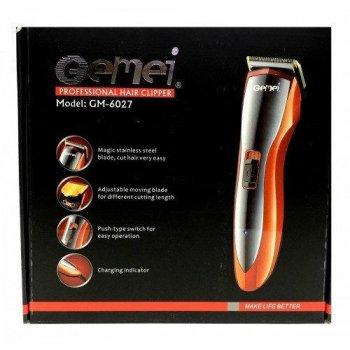Машинка для стрижки волосся акумуляторна Gemei GM-6027 (2_007509)