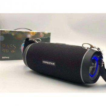 Портативна Колонка Bluetooth з динамічною підсвічуванням Hopestar H45 Party водонепроникна Чорний
