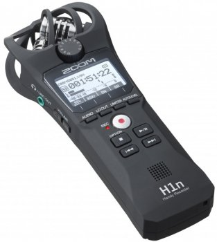 Диктофон цифровий Zoom H1n Black + Вітрозахист + Карта пам'яті 32 Гб + Міні трипод