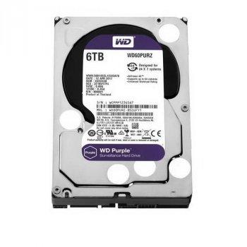 HDD SATA 6.0 TB WD Purple 5400rpm 64MB (WD60PURZ)