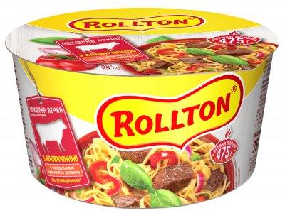 Упаковка локшини яєчної Rollton з яловичиною по-домашньому 75 г х 24 шт. (4820179251630)