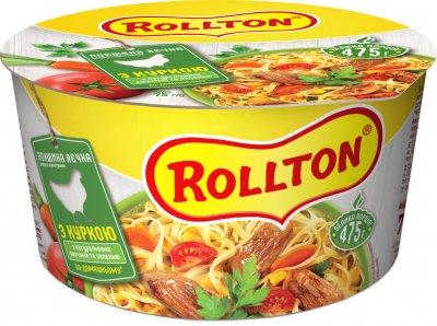 Упаковка локшини яєчної Rollton з куркою по-домашньому 75 г х 24 шт. (4820179251654)