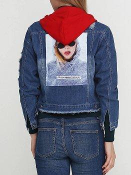 Джинсовая куртка KAERSHA 765735 Синий