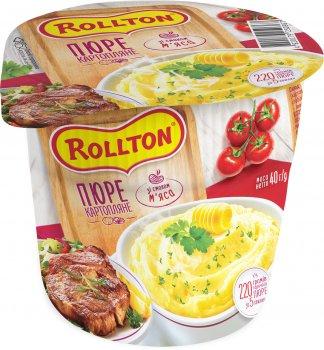 Упаковка пюре картопляного Rollton зі смаком м'яса 40 г х 24 шт. (4820179253993)
