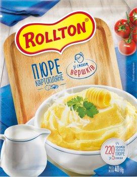 Упаковка пюре картопляного Rollton зі смаком вершків 40 г х 24 шт. (4820179254099)
