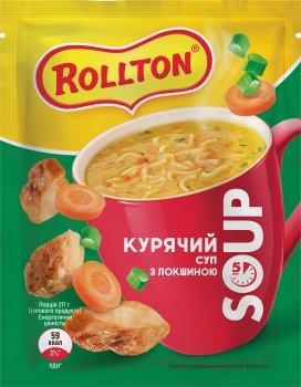 Упаковка супу Rollton курячого з локшиною 17 г х 28 шт. (4820179254310)
