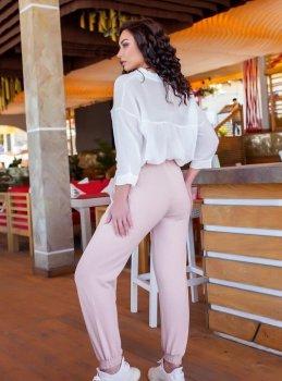 Спортивні штани G&M k-69608 колір пудра