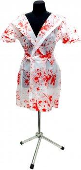 Халат Seta Decor Кровавая медсестра 16-786 42-44 Белый с красным (2000044000019)