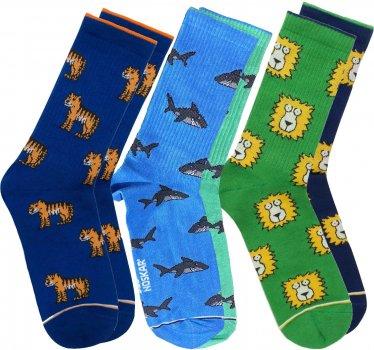 Набор носков DED NOSKAR Хищник М18В121Кс(ІЗ) 41-45 3 пары Разноцветные (ROZ6400025569)
