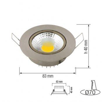 Світлодіодний світильник Horoz Electric LILYA-3 3W 4200К мат. хром