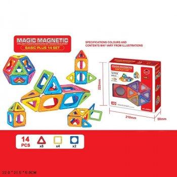 Магнитный конструктор JH8627 14 деталей, 22*21,5*5см