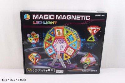 Магнитный конструктор JH6893 72 деталей, 44*35*6см