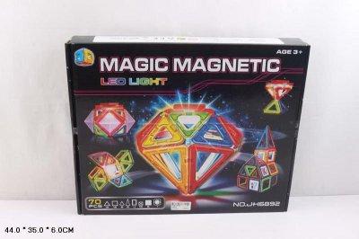 Магнитный конструктор JH6892 70 деталей, 44*35*6см