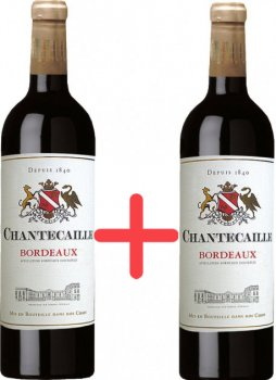 Набір вина GVG Chantecaille Bordeaux Rouge червоне сухе 12.5% 0.75 л х 2 шт. (3429671215419)