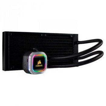 Система водяного охлаждения Corsair Hydro H100i RGB Platinum (CW-9060039-WW), Intel: 2011/2066/1151/1150/1155/1156, AMD: TR4/AM4/AM3/AM2, 277х120х27 мм