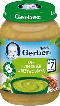 Упаковка пюре Gerber Суп-пюре із зеленими овочами та гречкою 12x190 г (7613035500136)