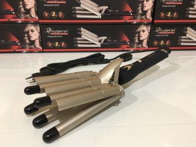 Стайлер для волос, плойка 5 волн для завивки волос ProGemei GM-2933 Gold
