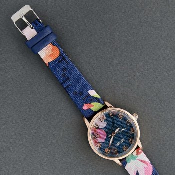 Классические Женские Часы Qulijia OL2-04 c синим ремешком