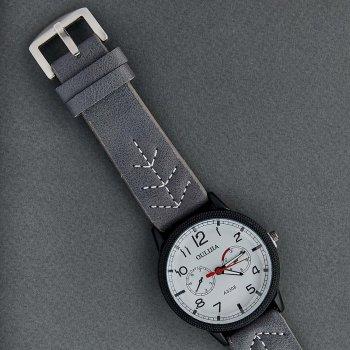 Классические Мужские Часы Qulijia OL2-34 c Серым ремешком