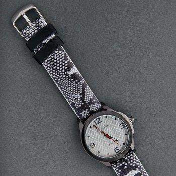 Классические Женские Часы Qulijia OL2-09 c Черно-белым ремешком